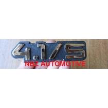Emblema 4.1/s Opala/caravan Cromado 91/ Gm - Nbz Automotive