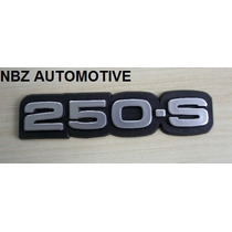 Emblema 250-s Cinza Antigo Gm - Nbz Automotive