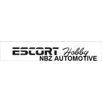 Emblema Adesivo Escort Hobby Preto - Ford - Nbz Automotive