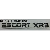 Emblema Adesivo Escort Xr3 Preto - Nbz Automotive