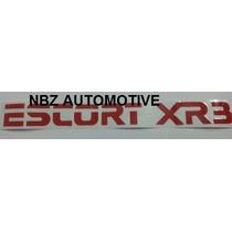 Emblema Adesivo Escort Xr3 Vermelho - Nbz Automotive