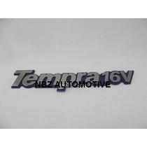 Emblema Tempra 16v Cromado/preto - Linha Fiat Antiga - Nbz