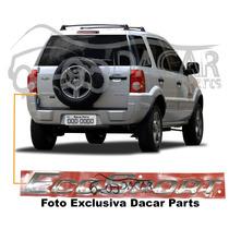 Emblema Ecosport Letra Cromada P/ Todos Modelos Ecosport.