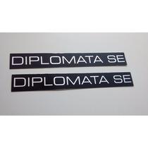 Emblema Plaqueta P/ Opala E Caravan Diplomata Se E 88/90