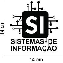 Adesivo Automotivo Curso Sistemas De Informação Ti -leve 2un