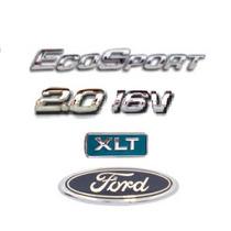 Kit Emblemas Ecosport 2.0 16v Xlt E Ford Porta Malas Brinde