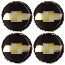 Jogo Emblemas Chevrolet Gm P/ Calota Ou Roda C/4 Peças 48mm