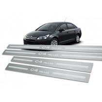 Soleira Porta Aço Inox Premium Citroen C4 Pallas !!!