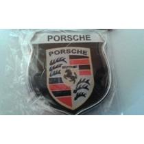 Emblema Porsche Moldura Cromada (par) Frete Grátis