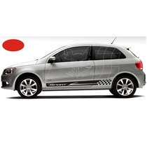 Kit Adesivo Sport Vw Gol Bola G3 G4 G6 2 Portas Tuning Carro
