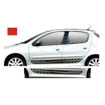 Faixas Laterais Peugeot 206 207 Sw 4 P Adesivos Acessórios