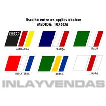 Adesivos Bandeiras Auto Alemanha Italia França Japão Brasil