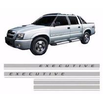 Kit Adesivo Faixa Lateral S10 Blazer Executive 2009 A 2011