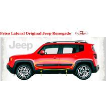 Friso Lateral Jeep Renegade Original 2015 4 Peças
