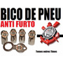 Bico Válvula Pneu Antifurto Trava Cromado Time Corinthians