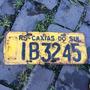 Placa Amarela Antiga Traseira Ib-3245 Caxias Do Sul - Rs
