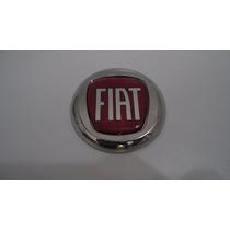 Emblema Capo Fiat Vermelho C/ Duplaface P/ Siena 97/00- Bre