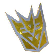 Emblema Badge Em Aluminio - Decepticon Transformers Amarelo