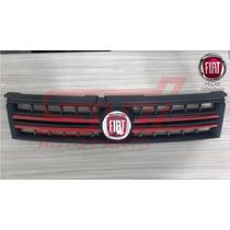 Grade Parachoque Fiat Stilo Friso Vermelho 08-12