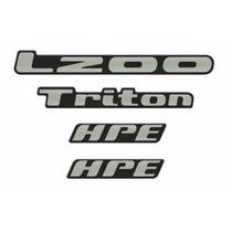Emblemas Adesivos Resinados L200 Triton. Preço Dos Quatro.