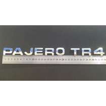 Emblema Pajero Tr4 Cromados 2,5 Cm Alt. Com Adesivo