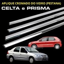 Pestana / Friso Cromado Do Vidro Celta E Prisma 4 Portas