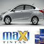Tinta Spray Automotiva Hyundai Prata Metal Hb + Verniz 300ml