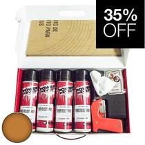 Kit P/ 4 Rodas Envelopamento Líquido Cobre Metálico Spray -