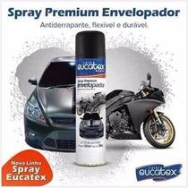 Spray Envelopamento Liquido Com 500ml Preto Fosco