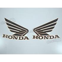 Adesivos Asa Honda Tanque Hornet 2013 Preto/vermelho- Decalx