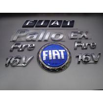 Emblemas Grade + Mala + Palio + Ex + 2 Fire 16v 02/03 - Bre