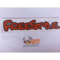 Emblema Adesivo Freestyle Para Ford Ecosport Laranja