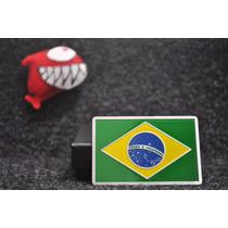 Emblema Bandeira Brasil - Para Todos Os Modelos !!!! - Inox!