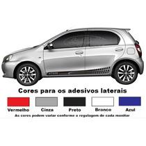 Kit Faixa Lateral Etios Hatch Adesivos Acessórios Esportivos