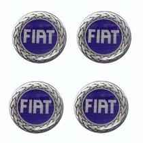 Jogo Emblemas Fiat Botom Para Calota Centro Roda Esportiva