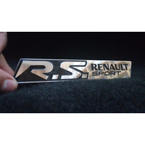 Emblema Badge Em Metal Renault Sport R S Alta Qualidade !!!