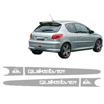 Kit Adesivo Lateral Peugeot 206 207 Quicksilver Frete Gratis