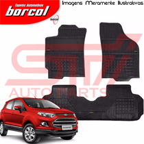 Tapete Borracha Interlagos Ecosport 2015 2016 Borcol 3 Pçs