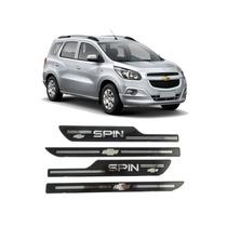 Jgo Soleira Porta Resinada Chevrolet Spin Preto Mod2
