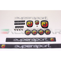 Kit Nº3 Adesivos Abarth Supersport P/ Fiat 500