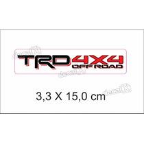Adesivo Toyota Trd 4x4 Off Road Resinado Rs09 - Decalx