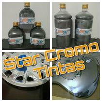 Tinta Efeito Cromado Cromo 100ml Rodas Carro Moto Acessorio