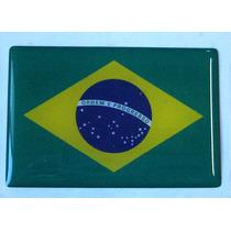 Bandeira Adesiva Resinada Do Brasil 6x4cm - Bre