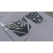 Adesivo Tuning Transformers Autobot+decepticons Vinil Prata