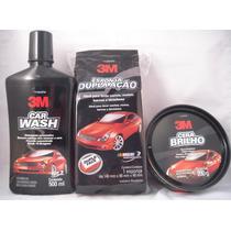 Shampoo Lava Carros 3m+cera 3m + Esponja 3m