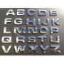 Emblema Letras Numeros Cromados Prata 2,50cm Fonte Square