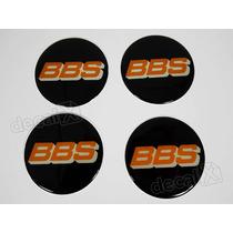 Emblema Adesivos Centro Roda Bbs 68mm Preto Resinado Re9