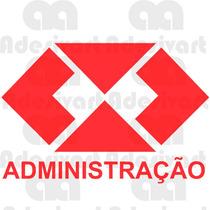 Adesivo Automotivo Administração Adm Faculdade Curso Carro