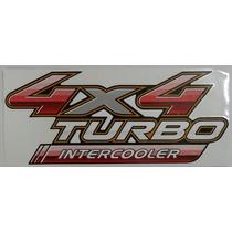 Adesivo 4x4 Turbo Intercooler Hilux (2 Pçs) - Frete Gratis