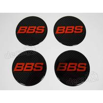 Emblema Adesivos Centro Roda Bbs 70mm Vermelho Resinado Re56
